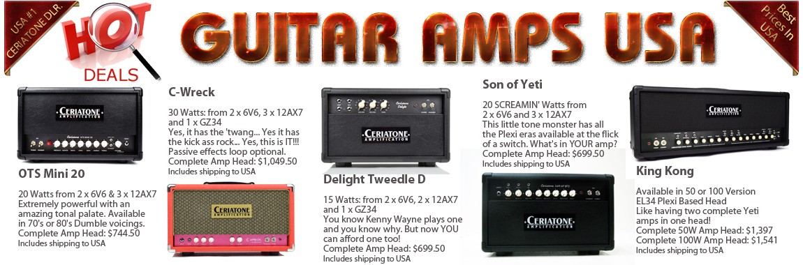 Ceriatone Amplification Guitar Amps USA